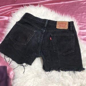 Levis SZ S or 4 or Vintage 29 Cut Off Shorts Black